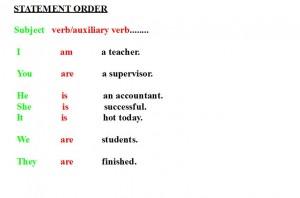 Statement order